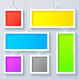 Group of Color Frames Stock Photo