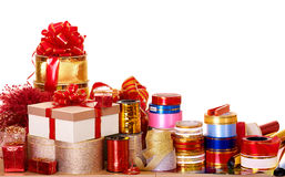 Group of color gift box. Stock Image