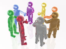 A group of color mans Stock Photography