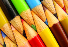 Group of color pencil. That can be used as background stock images