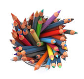 Group of color pencils Royalty Free Stock Image