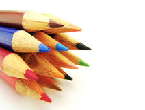Group of color pencils Royalty Free Stock Photos