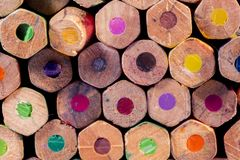 Group of color pencils background royalty free stock photography
