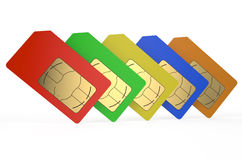 Group of color SIM cards 3 Royalty Free Stock Image