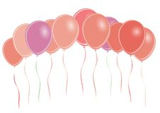 Group of colored balloons -  Royalty Free Stock Photos