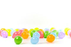 Group of colored balloons on white background Stock Photos