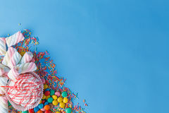 Group of colored candy Royalty Free Stock Photo