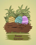 Group of colored Easter eggs Royalty Free Stock Image