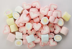 Group of colored marshmallows Royalty Free Stock Photo