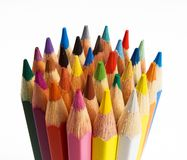 Group of colored pencils Royalty Free Stock Photo