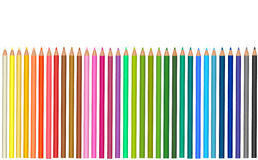 Group of colored pencils. Royalty Free Stock Image