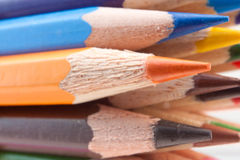 Group of colored pencils. Stock Image