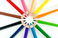 Group of colored pencils Stock Photography