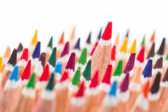 Group of colored pencils Royalty Free Stock Photography
