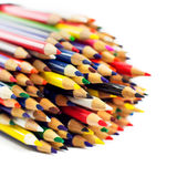 A group of colored pencils. Stock Image