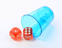 Group of colored plastic dice Royalty Free Stock Photos