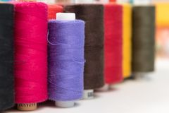 Group of colored sewing threads as colorful background Royalty Free Stock Images