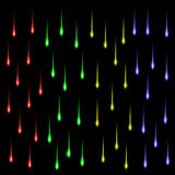 Group of colored stars Royalty Free Stock Photos