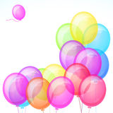 Group of colorful balloons isolated Royalty Free Stock Image