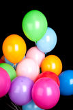 Group of colorful balloons isolated on black Royalty Free Stock Images