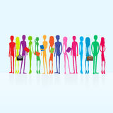 Group of colorful business people students Stock Photography