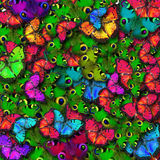 Group colorful Butterfly background Stock Photo