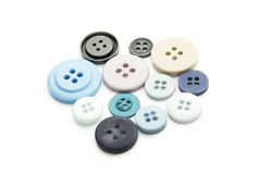 Buttons. Group of colorful buttons isolated on white background Stock Photos