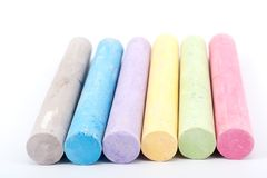 Group of chalks Stock Photos