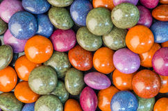 Colorful chocolate candies on table Stock Photography