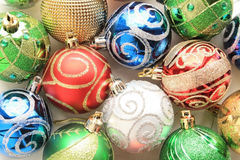 Group of colorful Christmas Balls Royalty Free Stock Images