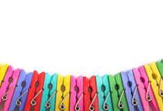 Group colorful clothespin Royalty Free Stock Images