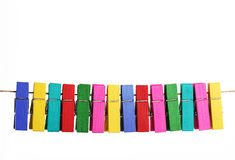 Group colorful clothespin Royalty Free Stock Image