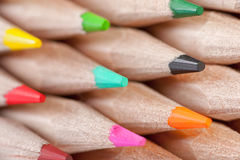 Group of colorful crayons Royalty Free Stock Photography