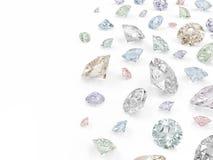Group of Colorful Diamonds Stock Photos