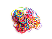Group of colorful elastic band Stock Image