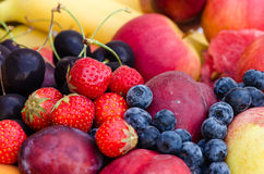 Group of colorful fruits Stock Images