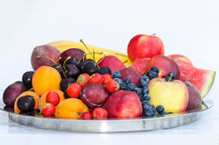 Group of colorful fruits Stock Photo
