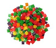 A group of colorful gummy candies Royalty Free Stock Images