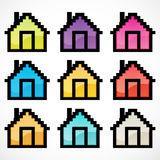Group of colorful homes Royalty Free Stock Images