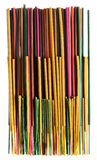 Group of colorful incense sticks aromatherapy Royalty Free Stock Images