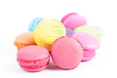 Group of colorful macaroon. On white background Royalty Free Stock Images