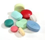 Group of colorful medicine pills Stock Image