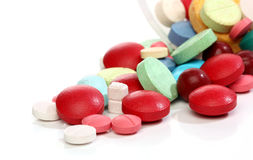 Group of colorful medicine pills Royalty Free Stock Photography