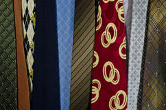 Group of colorful necktie Royalty Free Stock Photo