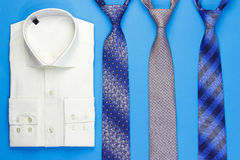 Group of colorful neckties and shirt Stock Photo
