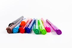 Group of colorful pen Royalty Free Stock Photography