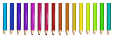 A group of colorful pencils Royalty Free Stock Photography