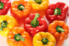 Group of colorful peppers. Shot of a group of colorful peppers Royalty Free Stock Photography