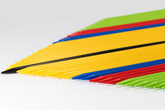 Group of colorful pick-up sticks place side by side Royalty Free Stock Photography