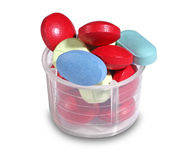 Group of colorful pills Stock Photography